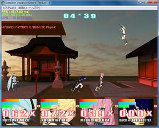 大対戦ボーカロイドシスターズ製品版(ゲーム画面)
